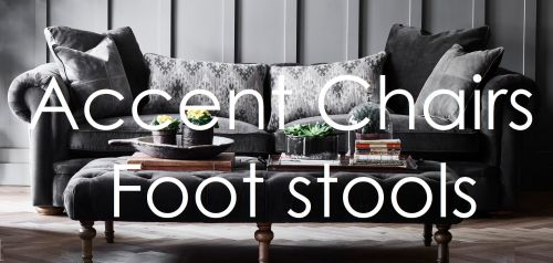 accent chairs and footstools