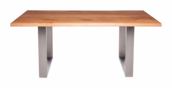 Ayrton Dining Table Stainless A1 (140x90cm) Solid Oak