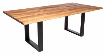 Ayrton Dining Table Anthracite A2 Leg  (180x90cm) Solid Oak oiled oak