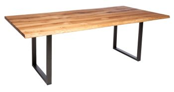 Ayrton Dining Table Anthracite B2 (200x100cm)  Solid Oak