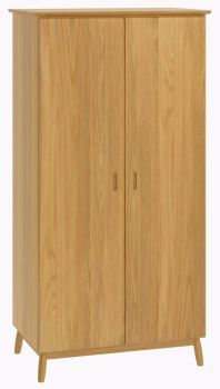Flow Oak Wardrobe 2 Door