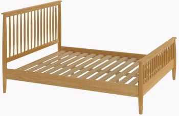 Flow Oak Bed Frame Double Oak