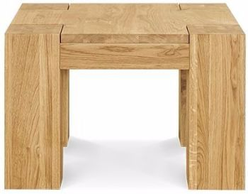 Loft Table Coffee Lamp Solid European Oak Oil Finish W600mm D600mm