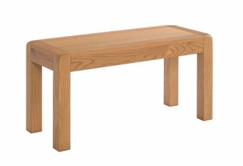Avalon Oak Dining Bench Small