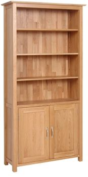 Katharine Oak Bookcase with Cupboard