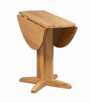 New Amber Oak Dining Drop Leaf Table