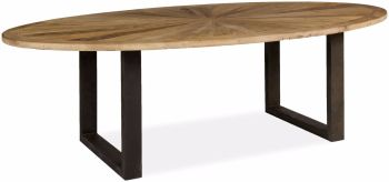 Kenmore Dining Table Oval with Iron Legs