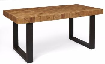 Kenmore Dining Table Small Mosaic with Iron Legs