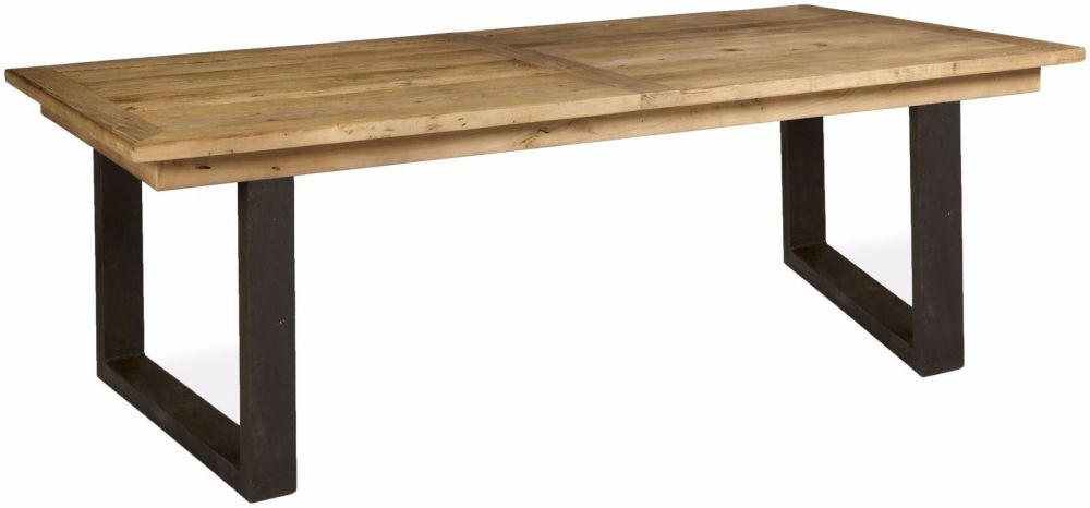 Boston Dining Table Large With Metal Legs