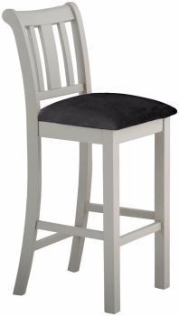 Stratton Stone Bar Stool Fabric Upholstered Seat