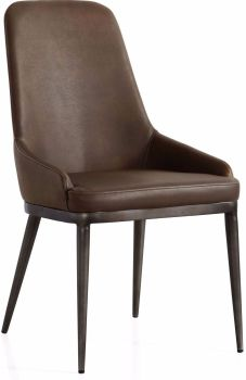 Industrial Contour Dining Chair Metal Legs
