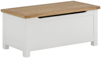 Stratton White Blanket Box