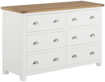 Stratton White Chest 6 Drawer