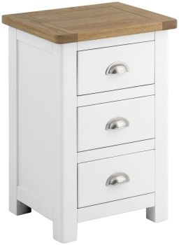 Stratton White Chest Bedside