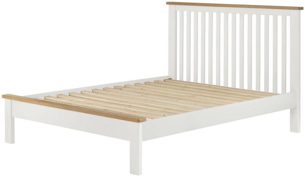 Stratton White 4'6 Bed