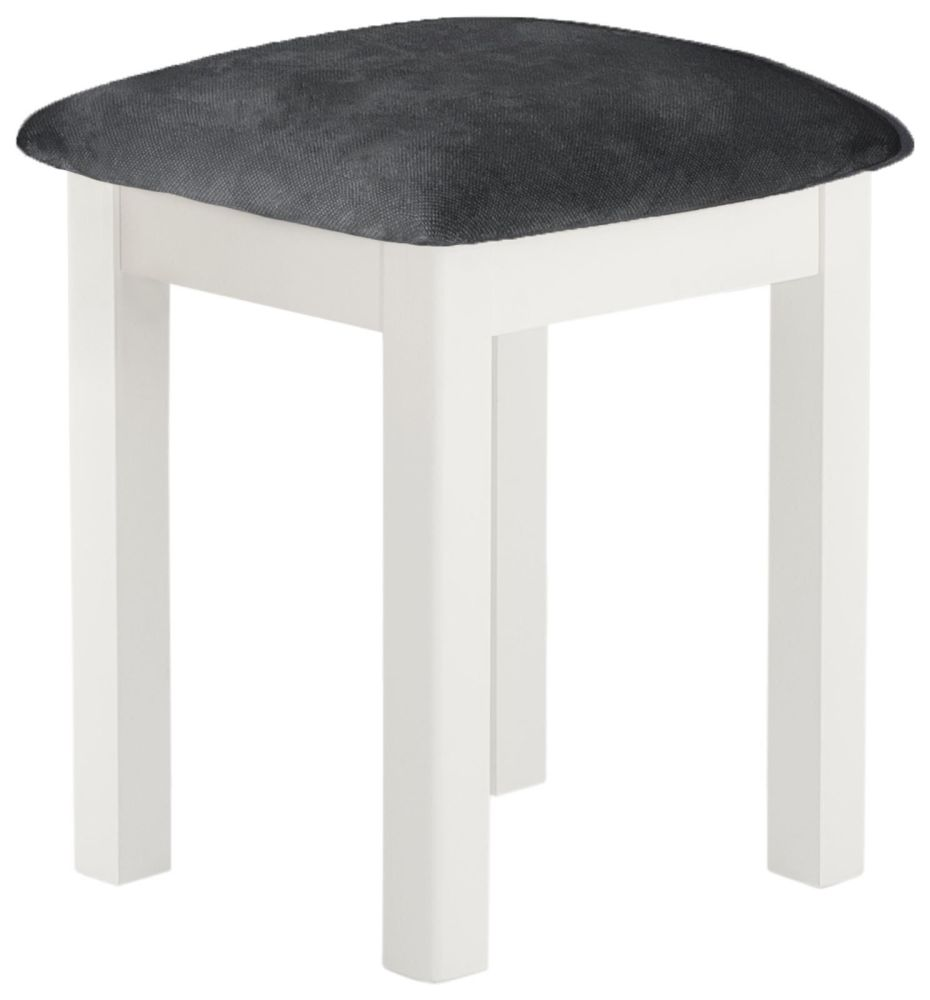 Stratton White Dressing Table Stool