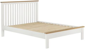 Stratton White Bed Frame King Size