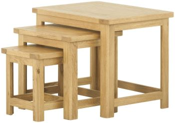 Stratton Oak Coffee Nest Of Tables