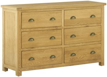 Stratton Oak Chest 6 Drawer