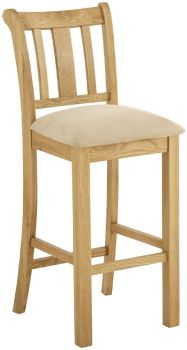 Stratton Oak Dining Bar Stool