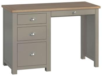 Stratton Stone Single Pedestal Desk
