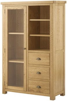 Stratton Oak Bookcase/Display Grand