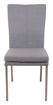 Ayrton Dining Chair Steel Leg Grey Fabric