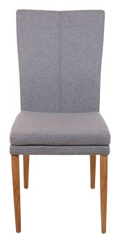 Ayrton Dining Chair Wood Leg Grey Fabric