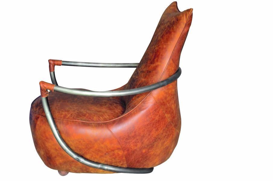 Pritchard Chair Aniline Leather w.73cm d.90cm h.97cm x