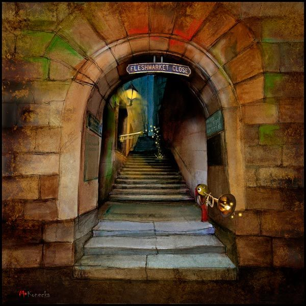 Way to the Castle (Edinburgh).