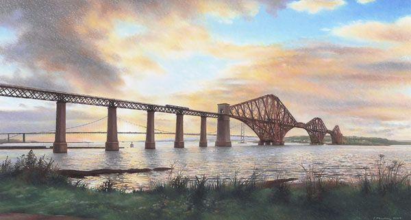 Sunset over the Bridges