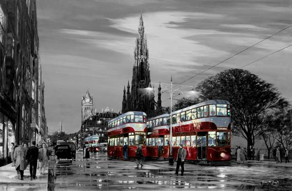 Trams on Princes Street