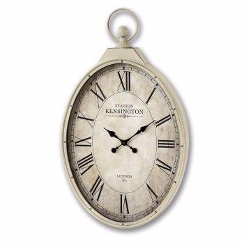 Kensington Station Oval Wall Clock
