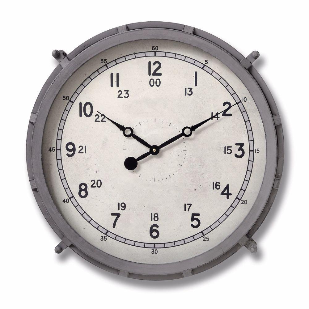 Grey Drum Clock