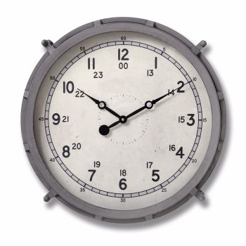 Grey Drum Clock