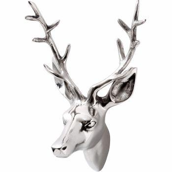 Silver Medium Stag Head