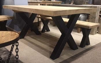 Reclaimed X Leg Table