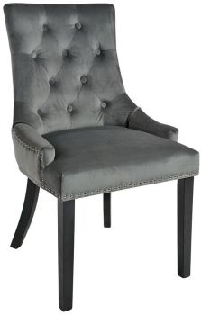 Christine Chair Charcoal with Black Legs
