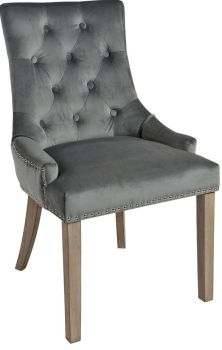 Christine Chair Charcoal with Vintage Legs