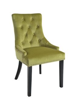 Christine Chair Lime Studs Black Legs