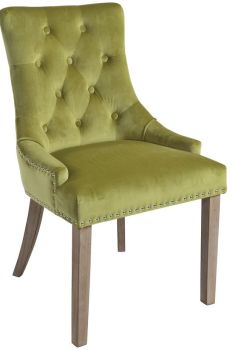 Christine Chair Lime with Vintage Legs