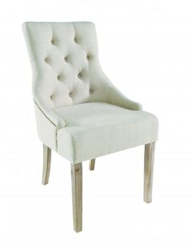 Stella Chair Cream Stud Hoop Natural Legs