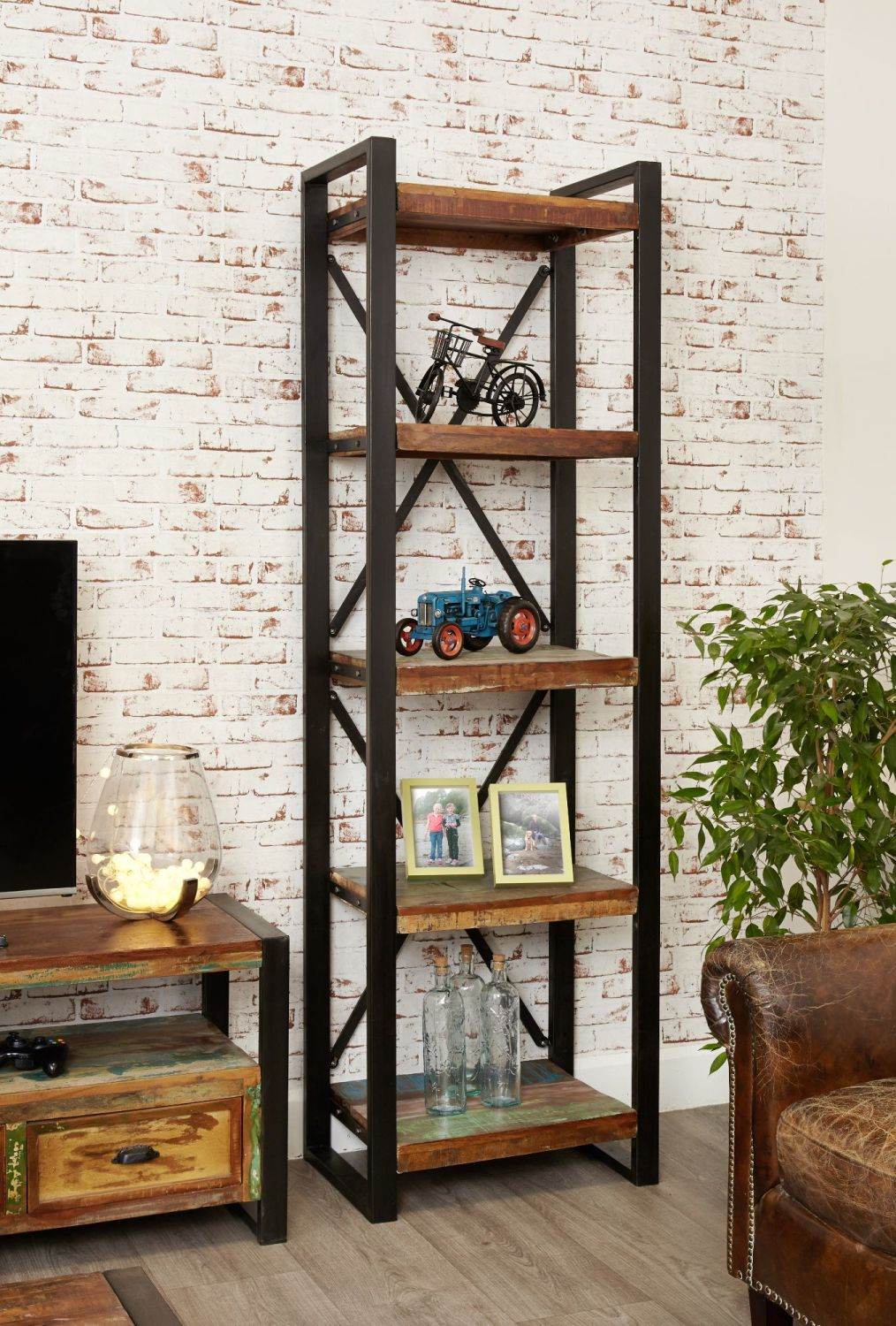Ajai Recycled Bookcase Alcove