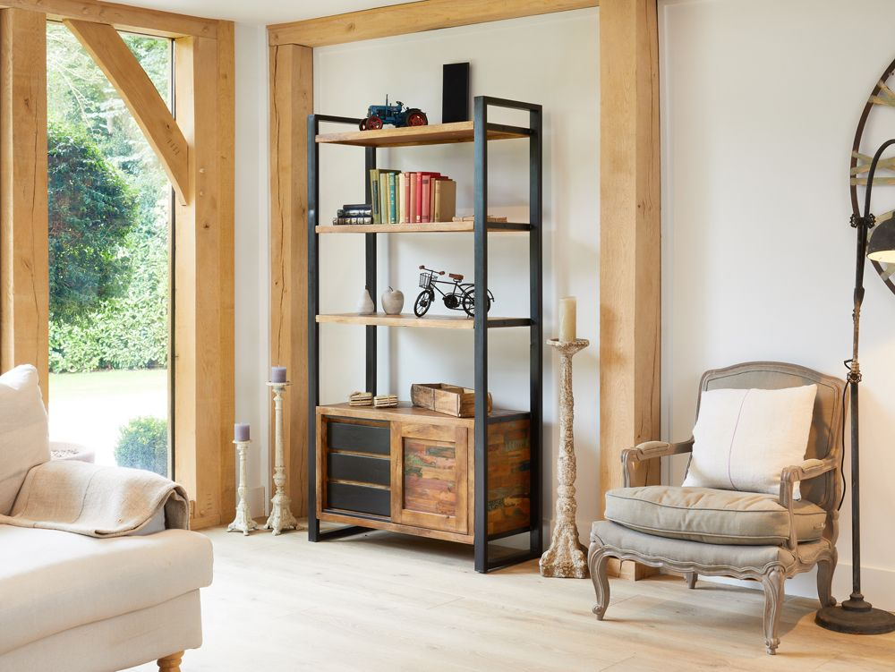 Ajai Recycled Bookcase Large (With Storage)