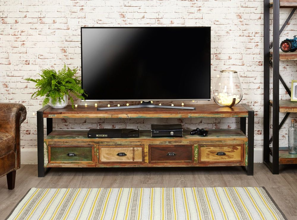 Ajai Recycled Television Cabinet (Open Widescreen)