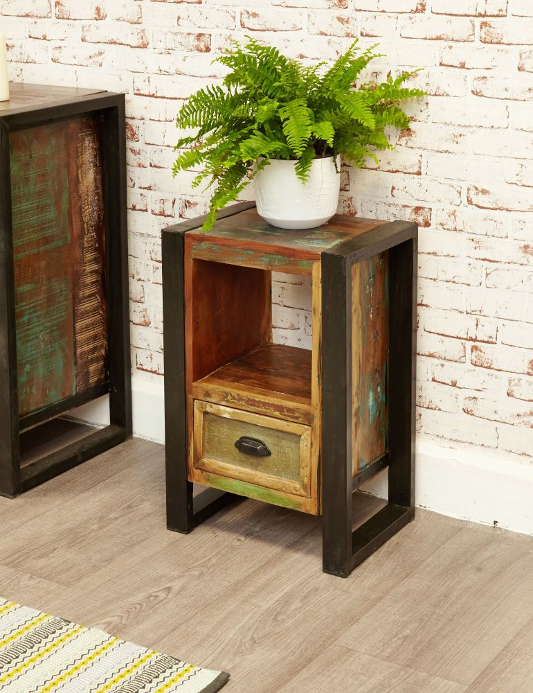 Ajai Recycled Lamp Table/ Bedside Cabinet