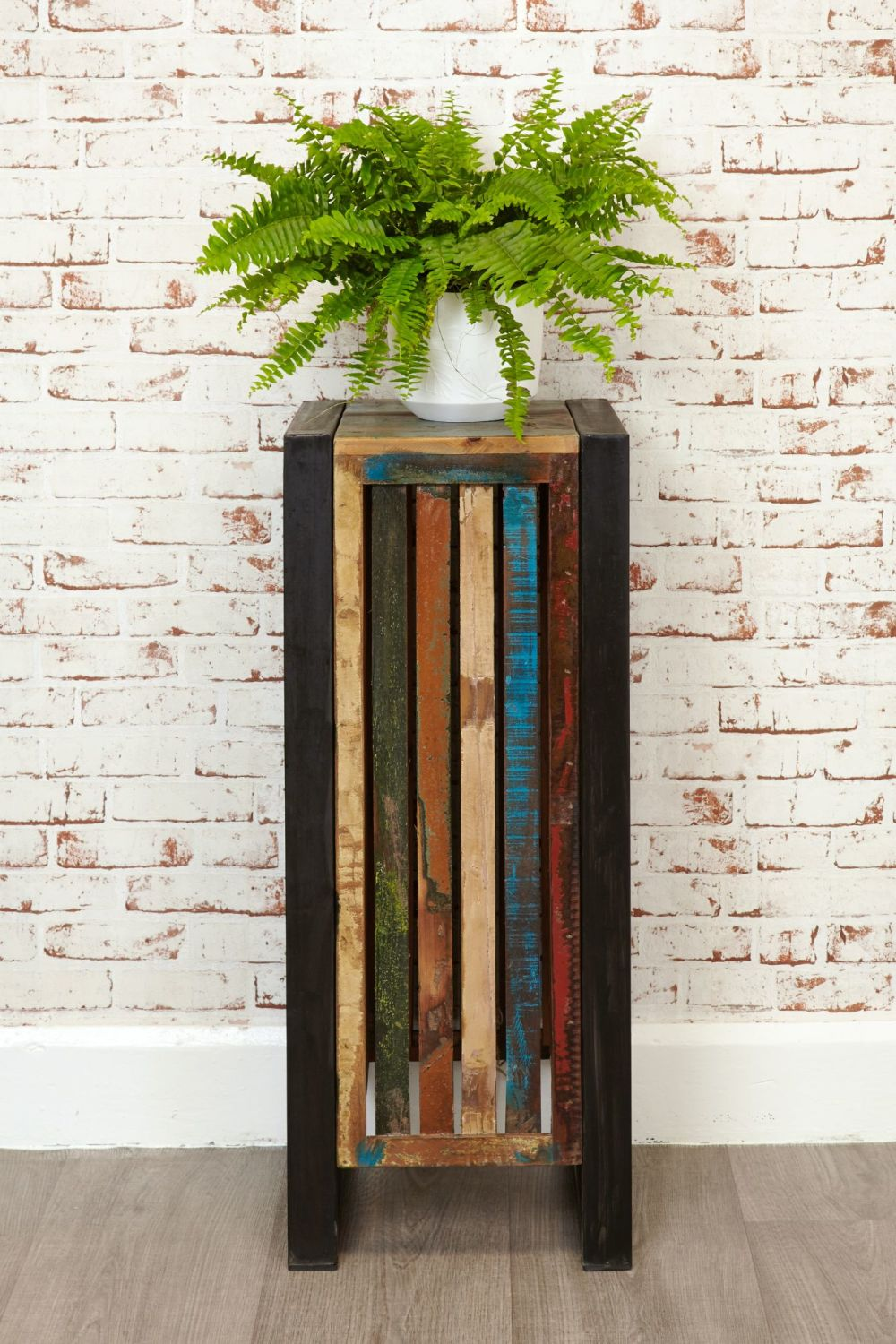 Ajai Recycled Plant Stand/ Lamp Table (Tall)