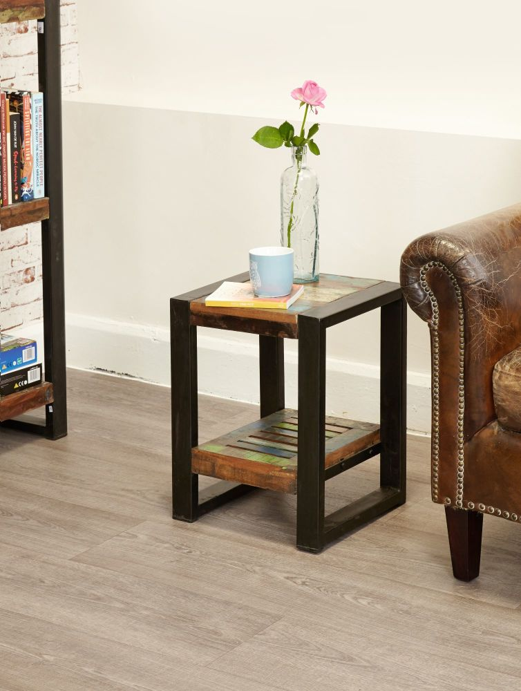 Ajai Recycled Plant Stand/Lamp Table (Low)
