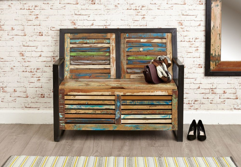 Ajai Recycled Storage Monks Bench (With Shoe Storage)