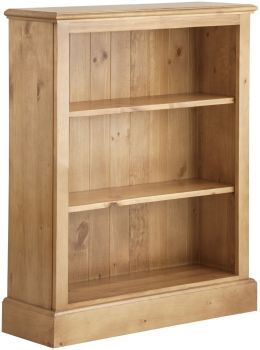Antique Pine Bookcase Low